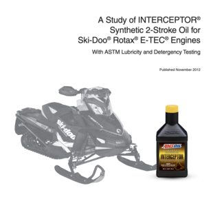 Interceptor Synthetic 2-Stroke Oil - Ski-doo Study